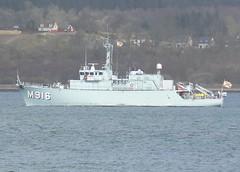 BNS Bellis M916 (4) @ Greenock 15-04-13 (AJBC_1) Tags: uk england riverclyde boat ship unitedkingdom military navy vessel nato warship minesweeper mcv navalvessel belgiannavy minehunter m916 jointwarrior bnsbellis ajc ajc