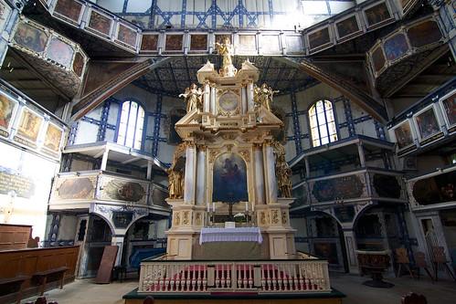 Ołtarz główny (1672) Kościoła Pokoju w Jaworze