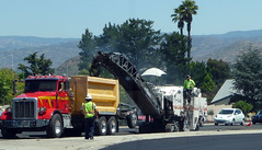 Dump Truck And Surface Miner (Photo Nut 2011) Tags: california car sandiego dumptruck grinder ranchobernardo surfaceminer