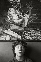 IMG Portrait with Pizza (frntprchprss) Tags: portrait blackandwhite jamesgehrt