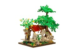 Flooded Barrack (Legopard) Tags: tree castle abandoned water river lego ruine hut decayed medival flooded moc barrack legopard