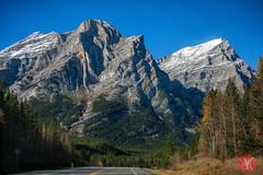 Layers of time.. (Kasia Sokulska (KasiaBasic)) Tags: road travel sky canada mountains fall beauty landscape kananaskis alberta rockymountains