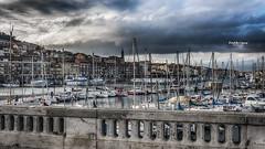 Retour au port (Tra Te E Me (TTEM)) Tags: lumixfz1000 photoshop cameraraw hrault ste port bateaux ciel nuages glise ville