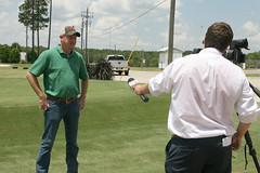 Schwartz interview 2 (UGA College of Ag & Environmental Sciences - OCCS) Tags: uga tifton turfgrass research facility schwartz walb