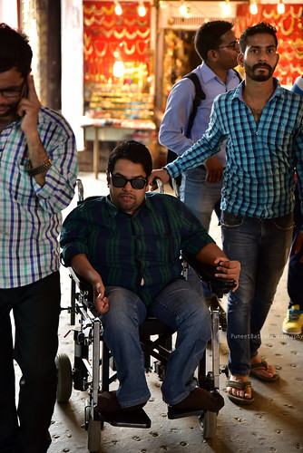 Accessible Tour of Red Fort, New Delhi: Our traveller with disability accompanied by one of our volunteers.