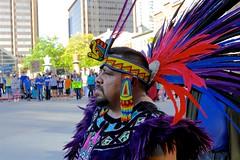 DAPL Clean Water Protest - Denver, CO (dangaken) Tags: denver co denverco lodo lowerdowntown colorado nativeamerican americanindian indian native indigenous headdress nativeamericanregalia indianheaddress waterprotest dapl dakotaaccesspipeline pipeline water access protest
