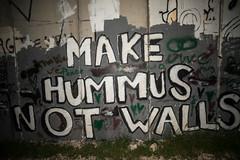 Make Hummus Not Walls (stefanos-) Tags: travelling backpacking palestine holyland christianity wall graffiti nazareth jesus bethlehem westbank