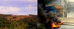 quiénes son los terroristas? (Felipe Smides) Tags: resistencia mural felipesmides smides mapuche estudiantes bosque protesta barricada trabajadores pescadores forestales fueraforestales wallmapu riot riots sur