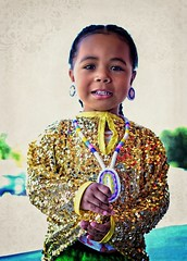 babygirl copy (queenbeaphoto@att.net) Tags: bymelissafrybeasley people child babygirl dancer iicotpowwowofchampions ndn nativeamerican nativeyouth beautiful gold sequins beadwork regalia tradition culture familyvalues lifestylephotography eventphotography portrait