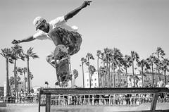 Venice Beach Skate Park (Tony__K) Tags: air skate venice beach california sports action leica mp trix 400 summicron 50mm ishootfilm kodak film
