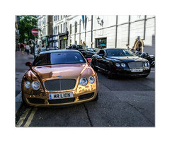 Typical. You wait all day for a Bentley Continental and then two come along at once.  :) (hehaden) Tags: car bentley continental street brighton sussex sel24f18z