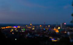 Bielefeld City Lights (Andreas Steffen) Tags: bielefeld tower sparrenburg evening licht abend light turm sony photographing