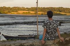 au moulin du hnan  mare basse (gwen2L capture vos sens) Tags: paysage portrait soir clair obscur verdure bateau france bretagne mare basse franais francophone moulin hnan sud coucher de soleil
