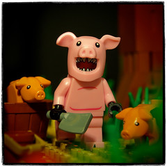 the pig man of the bayou (legophthalmos) Tags: lego pig man pigman animal chimera horror bayou swamp
