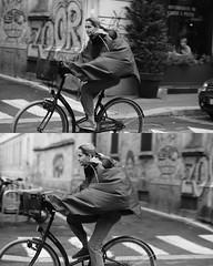 [La Mia Citt][Pedala] (Urca) Tags: 891 milano italia 2016 bicicletta pedalare ciclicsta ritrattostradale portrait bike bicyclenikondigitale mir biancoenero bn bw blackandwhite