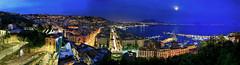 Naples Panorama (hapulcu) Tags: spring printemps primavera panorama dusk napoli naples italy italien italie italia campania bluehour
