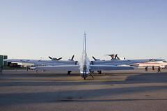 B-17 from behind, its hard to capture just how big it is. (Stephen Gardiner) Tags: hamilton ontario 2016 canadianwarplaneheritagemuseum lancster flyingfortress mitchell worldwar2 b17 b25 avro boeing northamericanaviation night plane aircraft propeller noseart pentax k3ii 1645