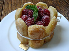 Raspberry Charlotte (knightbefore_99) Tags: west coast bc vancouver eastvan tasty fruit raspberry charlotte cake ladyfinger delicious bâtard bakery fraser patisserie