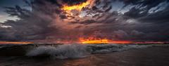 Stormy sunset over Lake Michigan (Calvin Morgan) Tags: storm stormclouds lakemichigan nikond700 tokina1735mm sunset