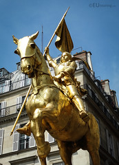 Close up of Jeanne d'Arc (eutouring) Tags: paris france travel statues statue sculptures sculpture joanofarc jeannedarc golden gold