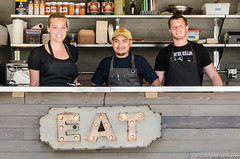 An EAT sign in downtown Chicago! (Jim Frazier) Tags: 2016 20160618chicagolooptrip advertisements advertising chicago downtown eat food group il illinois jimfraziercom june loop people portrait portraiture restaurant riverwalk shot sign signs summer urban q3 f10