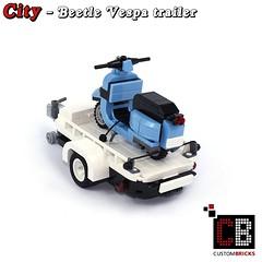 LEGO_Custom_VW_Beetle_10252_Vespa_CB02 (LA-Design2012) Tags: lego custom moc city creator expert beetle 10252 custombricks trailer anhnger vespa roller