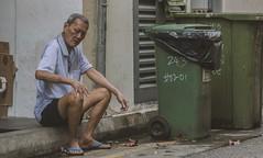 Cigarette Break (Elcommodore) Tags: man house break smoke smoking old