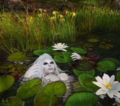 Lillypond (Alex Avion (AA Photography)) Tags: drown ghost white death creepy lilly pond digital fantasy