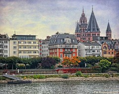 View of the Mainz Cathedral from the Rhine River, Mainz Germany (PhotosToArtByMike) Tags: mainzcathedral mainzgermany mainz germany stmartinscathedral marketsquare church rhine rhineriver rhinelandpalatinate electorateofmainz holyromanempire