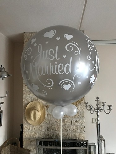 Cloudbuster Rond Just Married Zilver