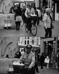[La Mia Citt][Pedala] sorridendo (Urca) Tags: 89112 milano italia 2016 bicicletta pedalare ciclicsta ritrattostradale portrait bike bicyclenikondigitale mir biancoenero bn bw blackandwhite sorridendo