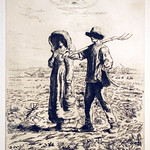 "<b>Le Depart pour le Travail</b><br/> Auguste Barry after Jean-Francois Millet (Etching) (1885)<a href=""http://farm9.static.flickr.com/8240/8450250077_6b0aaca417_o.jpg"" title=""High res"">∝</a>"