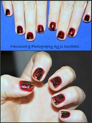 Roses are Red (Jo Southall) Tags: art hand painted nail polish sally manicure hansen orly lacquer nbails