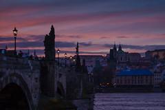Sunset at Karlv most - Prague (Mark Meijrink) Tags: prague prag praha czechrepublic charlesbridge praag karlvmost tsjechi karelsbrug tsjechischerepubliek tsjechei