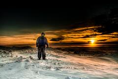 Joe at Whitefish Point (HikingJoe) Tags: winter snow ice sunrise michigan upperpeninsula lakesuperior whitefishpoint hikingjoe