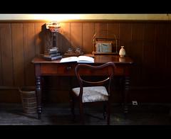 Desk - Housekeeper's Parlour, Tredegar House (livin the dream*) Tags: vintage newport statelyhome nationaltrust wfc gwent manorhouse tredegarhouse soutwales welshflickrcymru wfctredegar