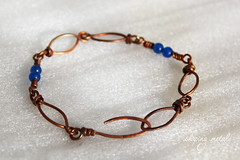 bracciale  6 / bracelet (nadiag83) Tags: blue brown texture metal wire handmade blu foil pietre bracelet oxidation copper forge shape jewels onyx gem rame lamina patina filo marrone forma gioielli metallo wirewrapping bracciale onice fattoamano ossidazione forgiatura shapingmetal