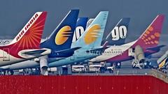 BIAL Lineup (Aiel) Tags: ramp tail bangalore indigo airbus boeing a320 airindia lineup b737 spicejet b737800 blr a320232 jetairways bial goair jetlite vobl