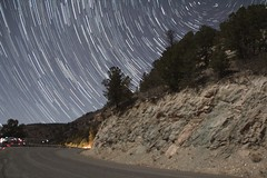 Stars over NM 440 by Las Vegas NM (CaptDanger) Tags: new las vegas tower stars mexico star hotel ruins long exposure skies bricks north montezuma nm startrails monetzuma startrailsexe