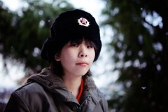 Still Winter (Nishi Drew) Tags: portrait girl japan 35mm canon person dof bokeh 14 sigma  shallow ff     5dmarkii 5dii