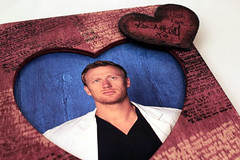 Rose Colored Wooden Heart Frame AUTOGRAPHED by KEVIN McKIDD Greys Anatomy (Kevin McKidd Online) Tags: poverty charity food res