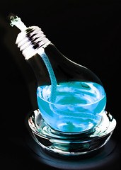 931-03 (Joe-Lynn Design) Tags: blue black glass lightbulb photomanipulation oillamp
