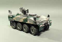 CV-100W Spadroon APC (Aleksander Stein) Tags: lego military wheels modular vehicle medium nordic fighting apc tracked 8x8 ndc hagglunds cv100 spadroon