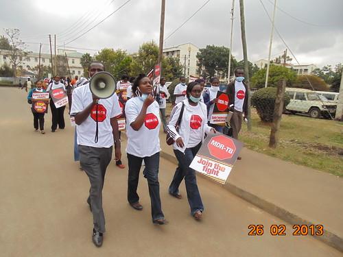 Faith -AHF Kenya, Jullius -KANCO and Njoki a HIV Activist