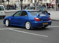 Subaru (kenjonbro) Tags: uk blue england london westminster trafalgarsquare subaru wrx charingcross sw1 4door worldcars uk300 kenjonbro fujifilmfinepixhs10 ca51lkv