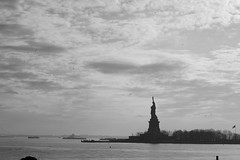 Statue of Liberty (koborin) Tags: nyc travel bw ny newyork blackwhite nikon statueofliberty d40 uppernewyorkbay nikond40