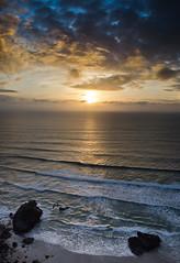 The Bay (intrazome) Tags: ocean sunset sea england sky sun nature beautiful weather clouds landscape coast nikon cornwall coastline d5100