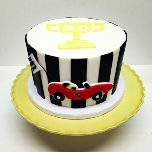 Swell Racing Car Birthday Cake Polkadotscupcakefactory A Photo On Funny Birthday Cards Online Elaedamsfinfo