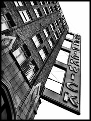 pickwick (eb78) Tags: sf sanfrancisco california ca blackandwhite bw monochrome architecture hotel soma grayscale pickwick 4g greyscale iphone iphoneography uploaded:by=flickrmobile flickriosapp:filter=nofilter