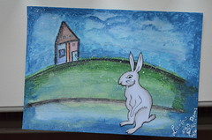 3. 1 House + 1 Rabbit - Barbara.USA (yaeshona) Tags: art artjournal 5x7 journaling swapbot artjournalpage artjournalpages